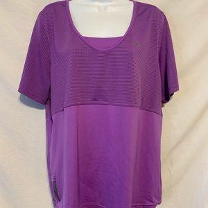 Reebok 18/20 1X purple poly exercise shirt 837a